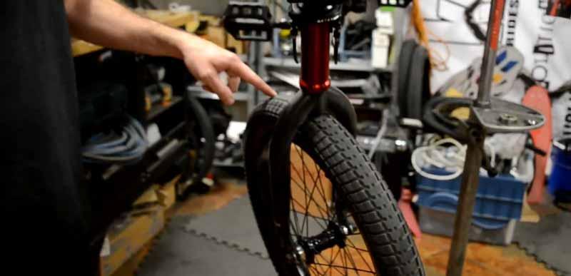 BMX bike maintenance